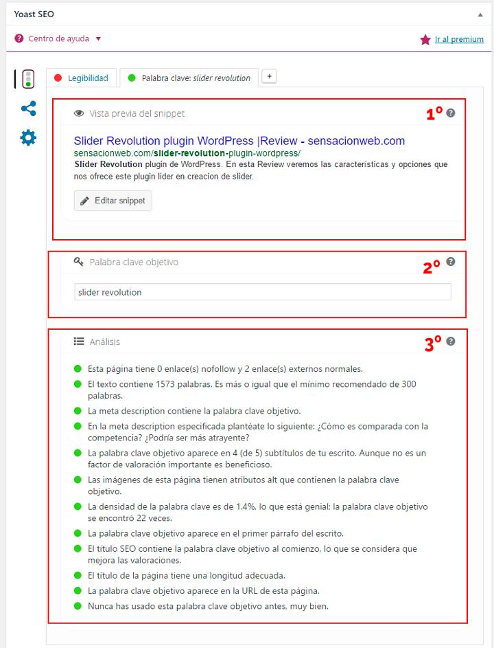 configurar el seo de paginas y entradas en wordpress con yoast seo
