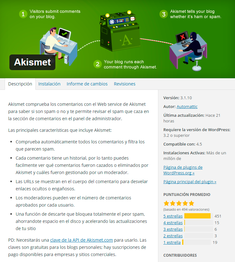 especificaciones-akismet-plugin-wordpress