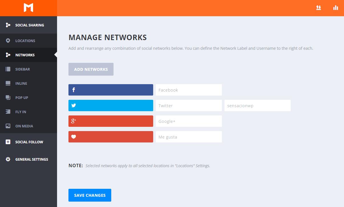 como configurar las redes sociales en el plugin monarch