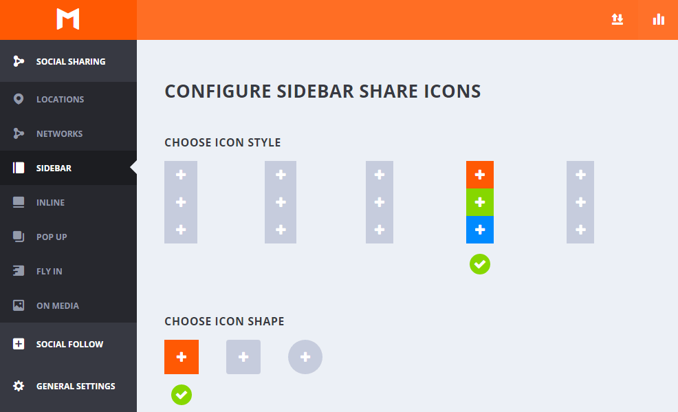 configurar sidebar monarch plugin