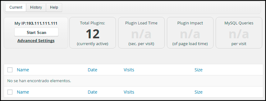 analisis de plugins en wordpress con p3 performance profiler