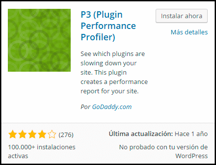 instalacion del plugin guia p3 performance profiler