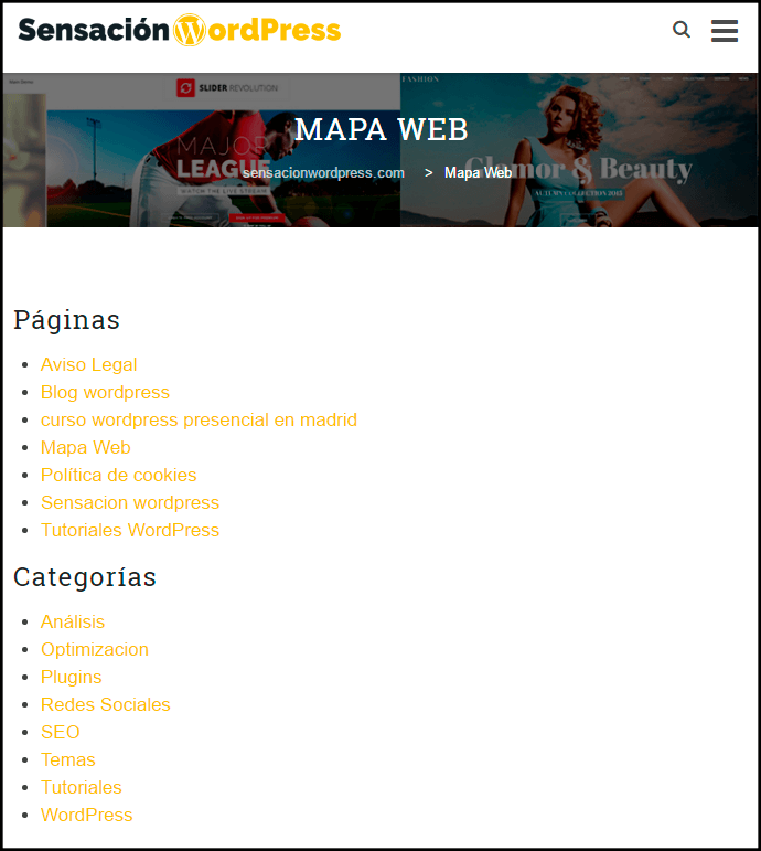 configurar mapa del sitio table of contents plus plugin wordpress