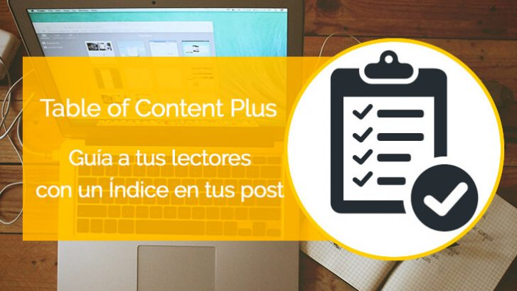 tutorial de wordpress en español del plugin table of content plus