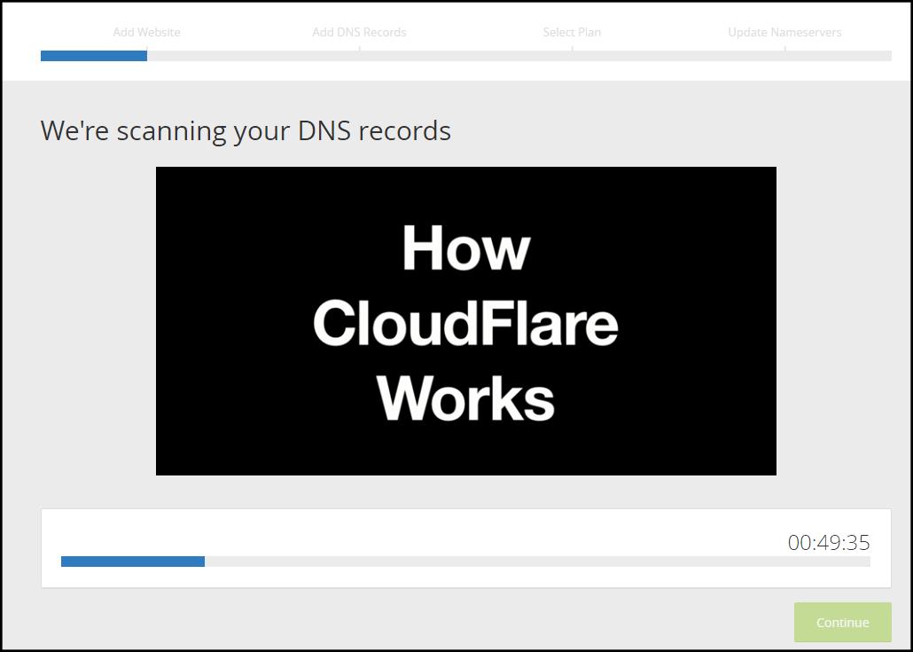 escaneo automatico de direcciones dns cloudflare cdn gratis para wordpress