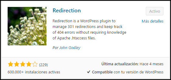 redirección de url 301 en wordpress tutorial del plugin redirection