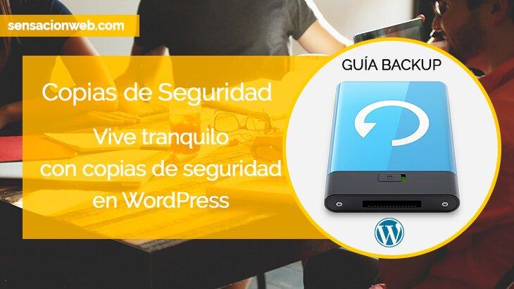 guía copias de seguridad en wordpress