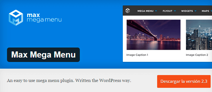 max mega menu wordpress