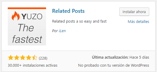 instalar articulos post relacionados en wordpress con plugin yuzo related post