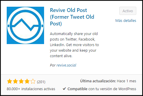 instalar revive old post tutorial plugin wordpress