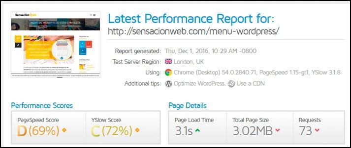 análisis de wordpres sin versión amp páginas móviles aceleradas