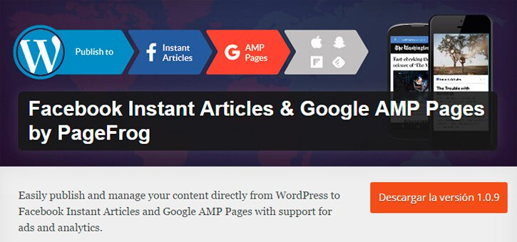 plugin wordpress facebook instant articles google amp pages by pagefrog