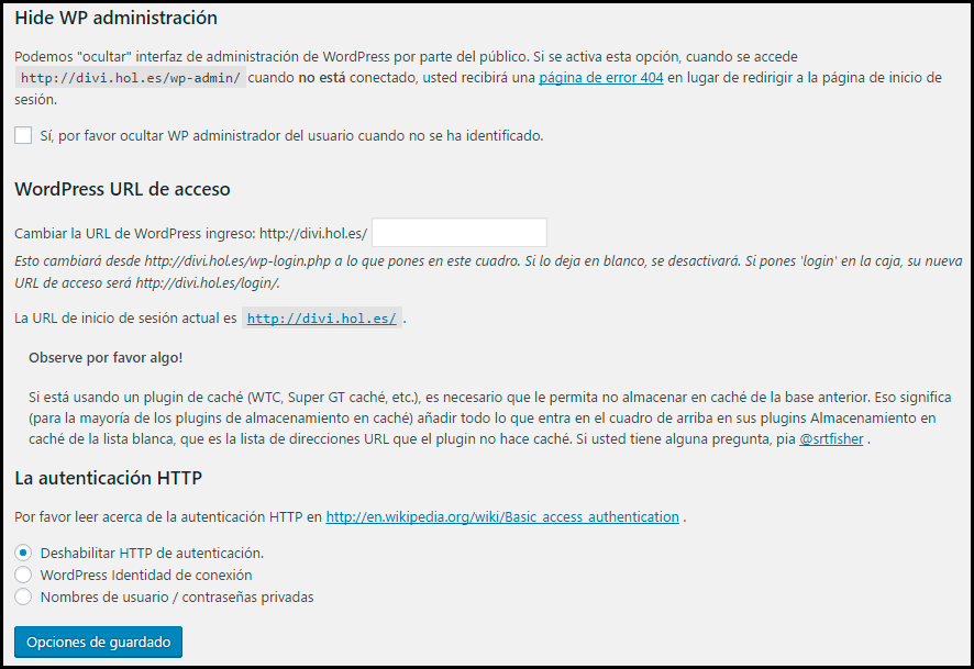 cambiar-url-wordpress-Lockdown-WP-Admin