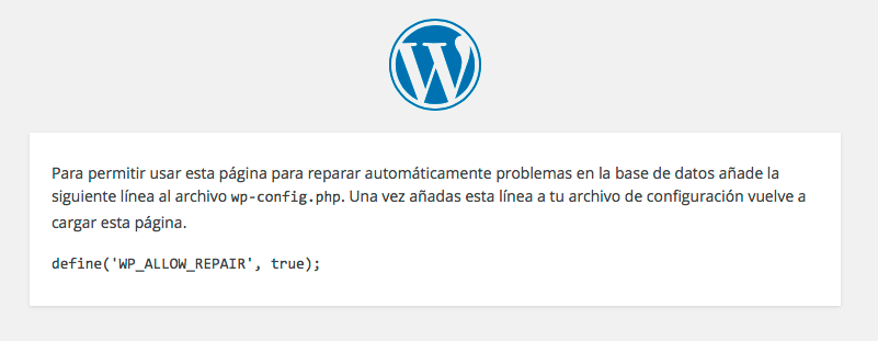 activar-reparacion-base-datos-instalacion-wordpress