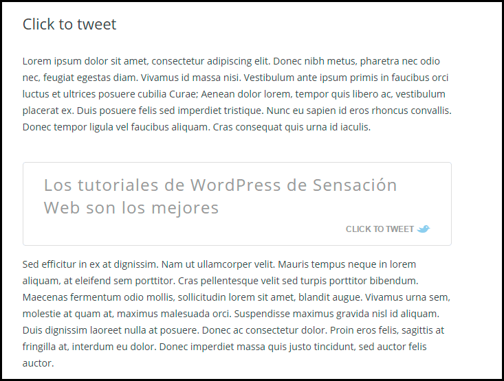 clack to tweet by todaymade para wordpress
