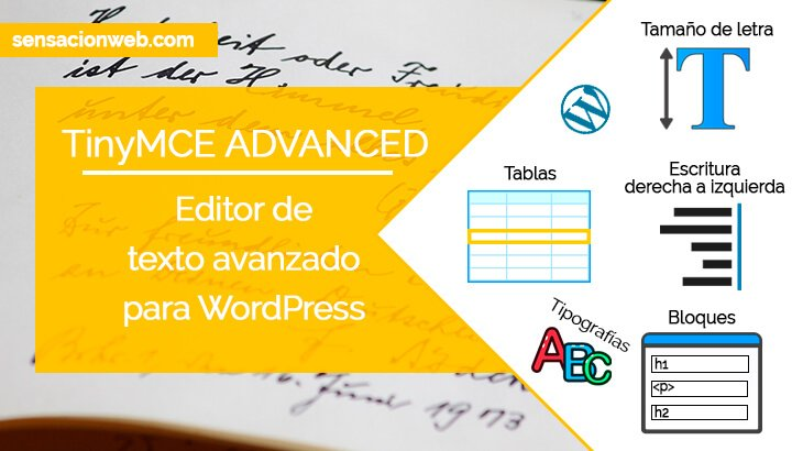 Editor de Texto Avanzado en WordPress | TinyMCE Advanced