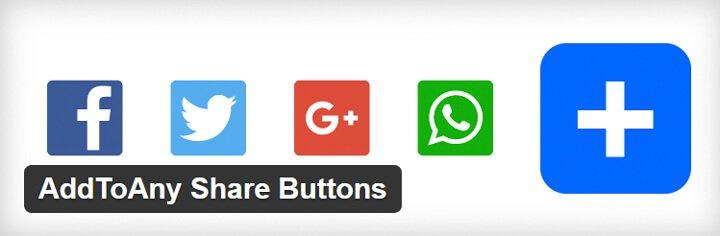 como configurar addtoany share buttons wordpress