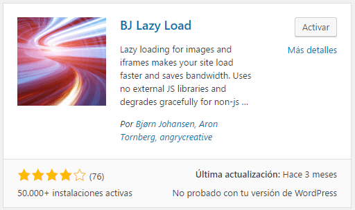 bj lazy loading plugin wordpress