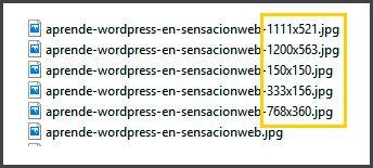 como diferenciar las miniaturas de wordpress