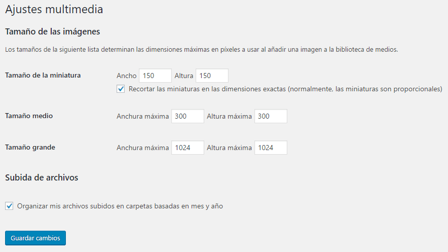 redimensionar miniaturas de wordpress