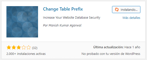 change table prefix plugin wordpress