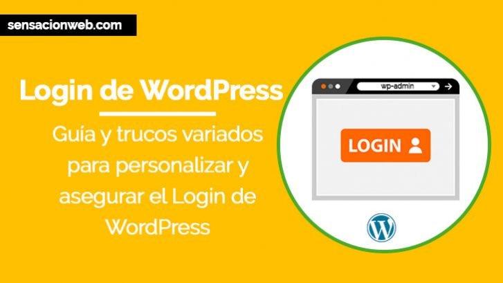 Guía Login de WordPress + Personalización, Seguridad y otros Trucos