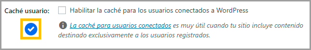 cache usuarios conectados wp rocket