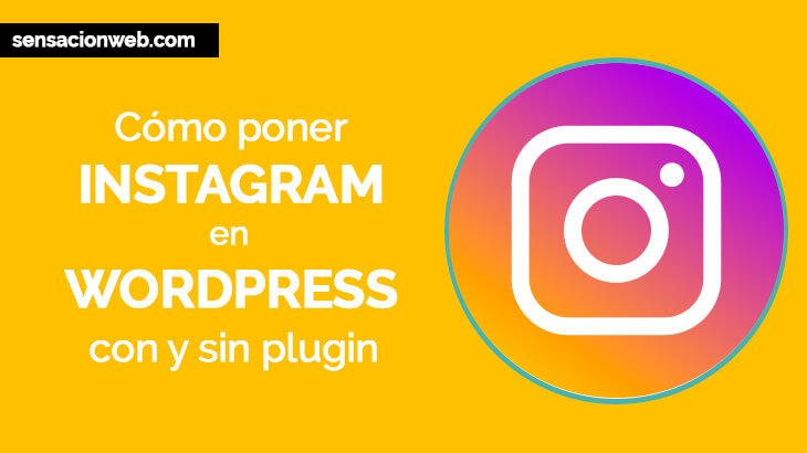 Como poner instagram en WordPress