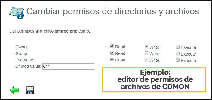 permisos de archivos en wordpress