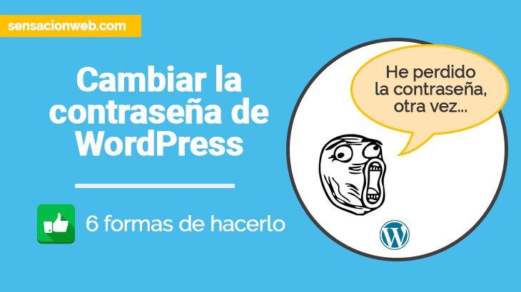 como cambiar la contraseña de wordpress