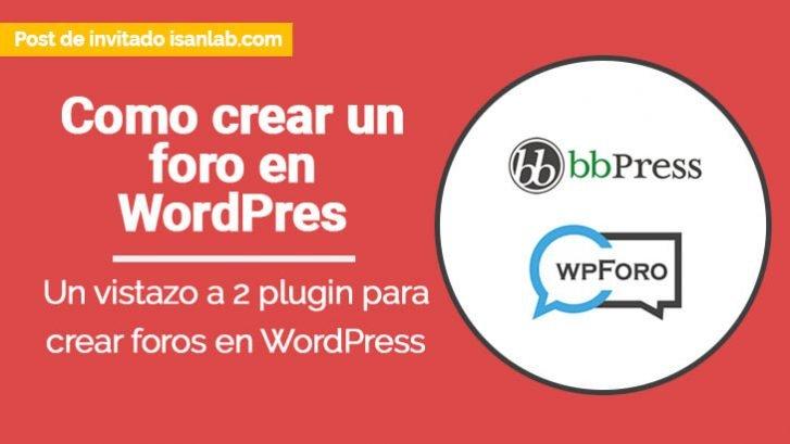 como crear un foro en wordpress
