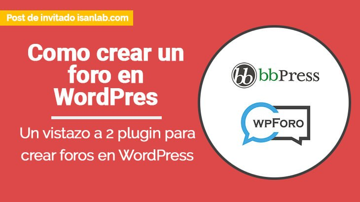 Como crear un foro con WordPress