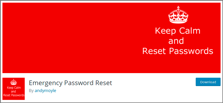 emergency password reset plugin
