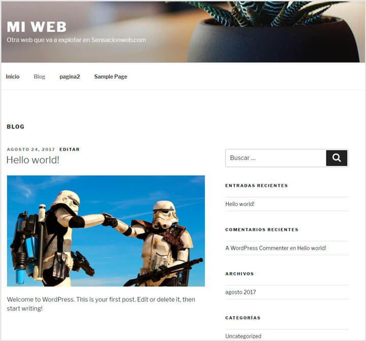 barra lateral de wordpress