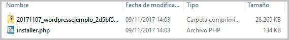 subir archivos de duplicator al servidor
