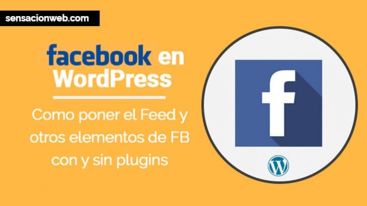 como poner facebook en WordPress