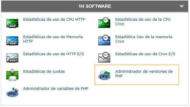administrador de versiones php