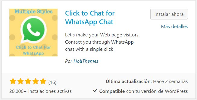plugin para poner whatsapp en wordpress