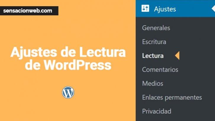 ajustes de lectura de wordpress