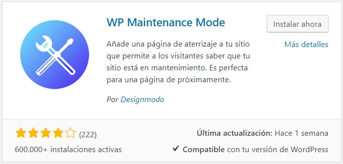 plugin wp maintenance mode
