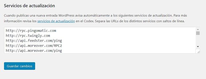 servicios de actualizacion