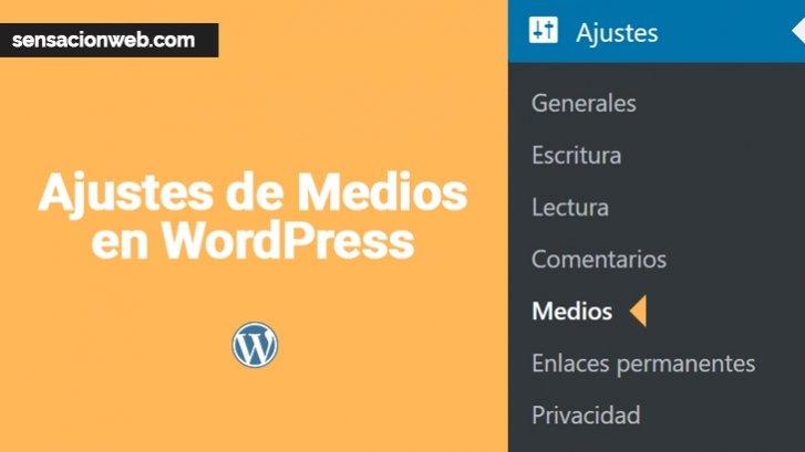 ajustes de medios de wordpress