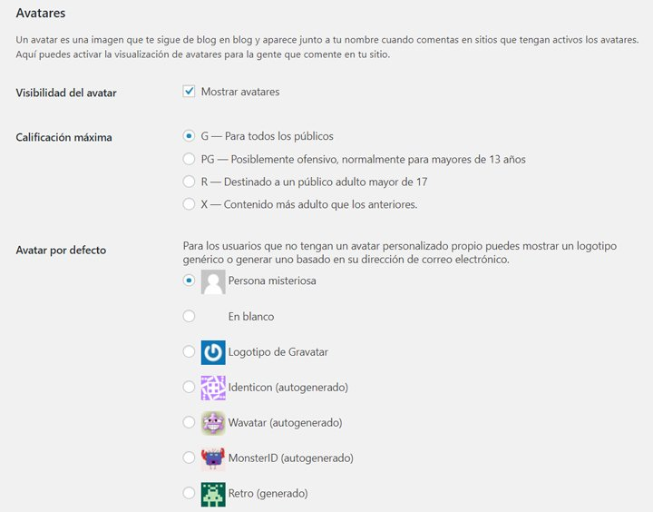 avatares de comentarios de wordpress