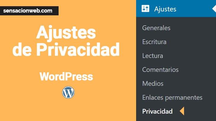 ajustes de privacidad de wordpress