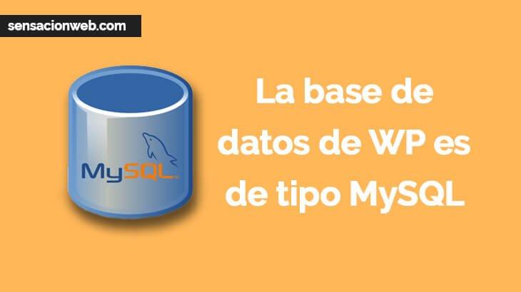 base de datos mysql de wordpress