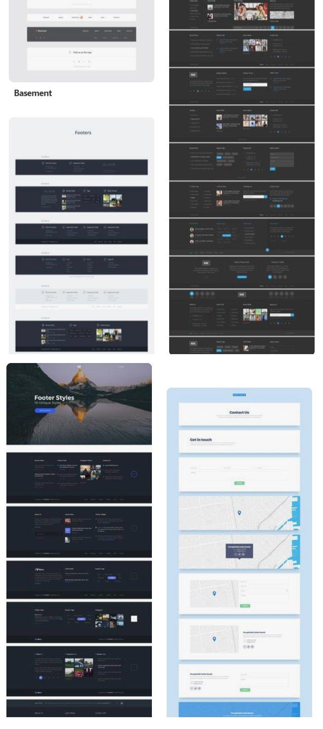 diseños de footer para páginas web