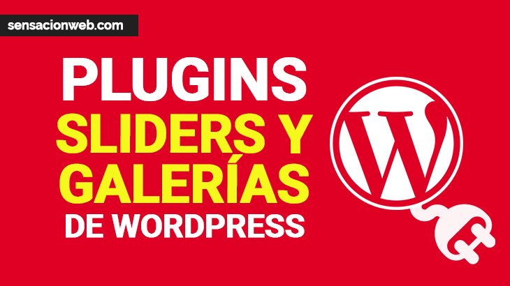 plugins de sliders y galerías para wordpress